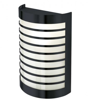 Half cylinder wall light TERU with border, grey ral 7016