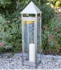 Decorative Candle Lantern 90 cm, stainless steel