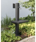 Garden stand pipe with shelf, graphite