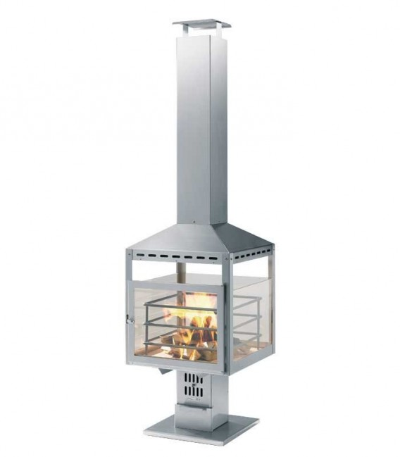 Stainless barbecue chimney FUOCO