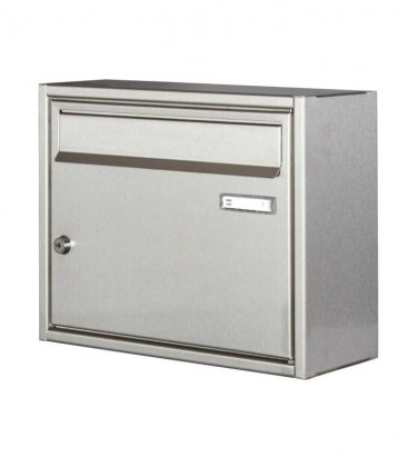 Square letterbox, stainless steel