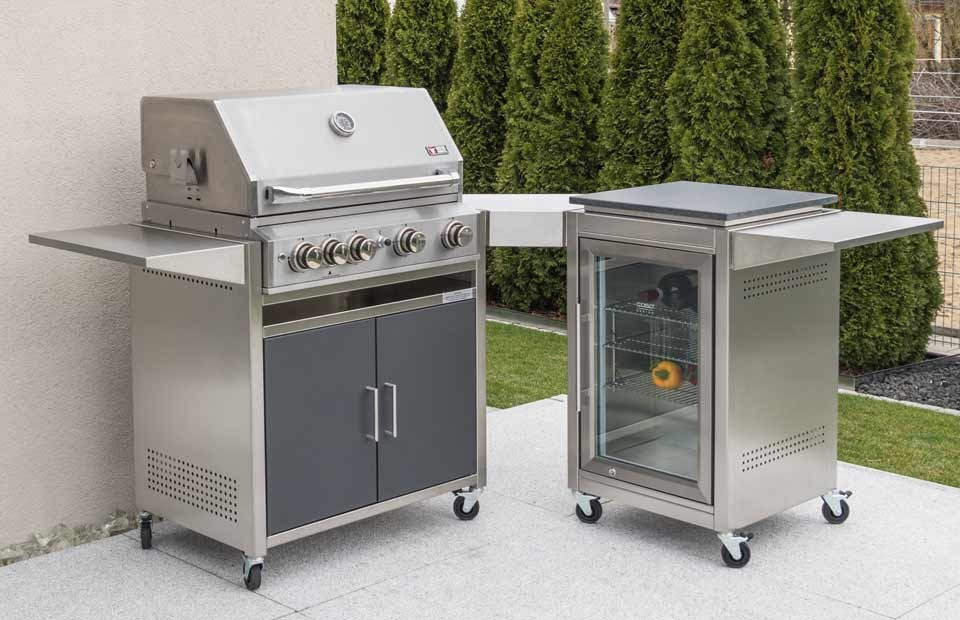 Outdoorküche Variante 5: Gasgrill Meyer Barbecue, Kühlschrank-Modul
